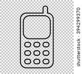 cell phone line icon on... | Shutterstock . vector #394299370