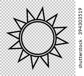 sun sign. line icon on...