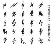 lightning bolt icons.... | Shutterstock .eps vector #394303633