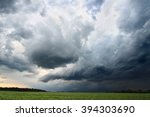 Small photo of Dark clouds and turbulent skies accompany a strong thunderstorm in Indiana.