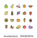 fruits and vegetables colorful... | Shutterstock .eps vector #394303954