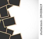 pile of photo frames on white... | Shutterstock .eps vector #394308619