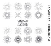 set of vintage hand drawn... | Shutterstock .eps vector #394309714