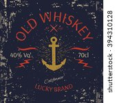 whiskey label design. t shirt... | Shutterstock .eps vector #394310128