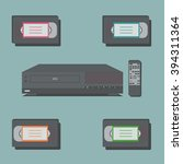 video player with remote... | Shutterstock .eps vector #394311364