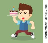 boy birthday cake | Shutterstock . vector #394312708