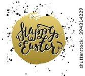 happy easter typographic... | Shutterstock . vector #394314229