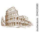 colosseum hand drawn  ... | Shutterstock .eps vector #394319080