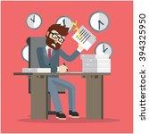 business man very busy | Shutterstock . vector #394325950