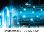 dark blue color light abstract... | Shutterstock . vector #394327234