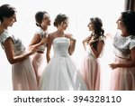 beautiful bride   bridesmaids...