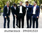 stylish handsome men in the... | Shutterstock . vector #394341523