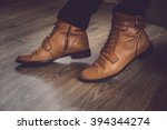 brown leather classic man's... | Shutterstock . vector #394344274