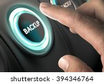 finger about to press circular... | Shutterstock . vector #394346764