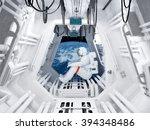 Astronaut Sitting Inside ....