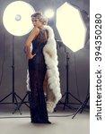 stunning beauty model posing at ...   Shutterstock . vector #394350280