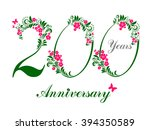 200 years anniversary. happy... | Shutterstock .eps vector #394350589