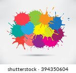 vector paint splat.colorful... | Shutterstock .eps vector #394350604