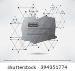 abstract geometric background... | Shutterstock .eps vector #394351774