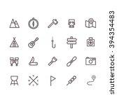 camping icon set vector.   Shutterstock .eps vector #394354483