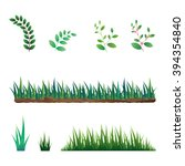 set of grass and branches. ...   Shutterstock .eps vector #394354840