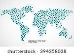 abstract world map. molecule... | Shutterstock .eps vector #394358038