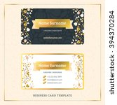 creative golden business... | Shutterstock .eps vector #394370284
