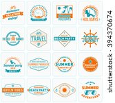 set of summer holidays design... | Shutterstock .eps vector #394370674