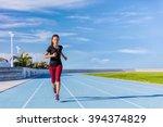 female asian athlete runner...   Shutterstock . vector #394374829