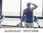 man on the treadmill | Shutterstock . vector #394376866
