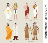 ancient clothing egyptian... | Shutterstock .eps vector #394377874