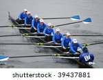 Small photo of BOSTON - OCTOBER 18: Wellesley College women's rowing team competes in the Head Of The Charles Regatta on October 18, 2009 in Boston, Massachusetts.