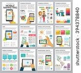 flat modern infographics set... | Shutterstock .eps vector #394378840