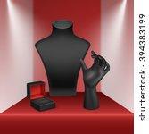 vector set of black necklace...   Shutterstock .eps vector #394383199