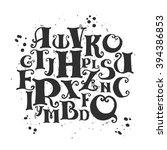 alphabetic vector typography...   Shutterstock .eps vector #394386853