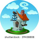 small toy house with a lantern... | Shutterstock . vector #39438808