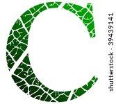letter c. raster version | Shutterstock . vector #39439141