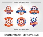 vector illustration of soccer... | Shutterstock .eps vector #394391668