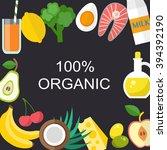 healthy food vector template.... | Shutterstock .eps vector #394392190