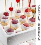 an appetizer of frozen grapes ... | Shutterstock . vector #394395493