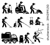 Industrial Cleaning Worker With ...