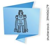 robot doodle | Shutterstock . vector #394406179