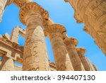 great hypostyle hall and clouds ... | Shutterstock . vector #394407130