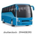 blue city bus | Shutterstock .eps vector #394408390