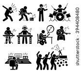 rock star musician music artist ... | Shutterstock .eps vector #394408480