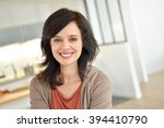 portrait of smiling 40 year old ... | Shutterstock . vector #394410790