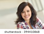portrait of middle aged... | Shutterstock . vector #394410868