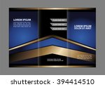 business theme tri fold... | Shutterstock .eps vector #394414510