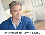 portrait of smiling handsome... | Shutterstock . vector #394415269