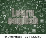 studying concept  learn english ... | Shutterstock . vector #394423360